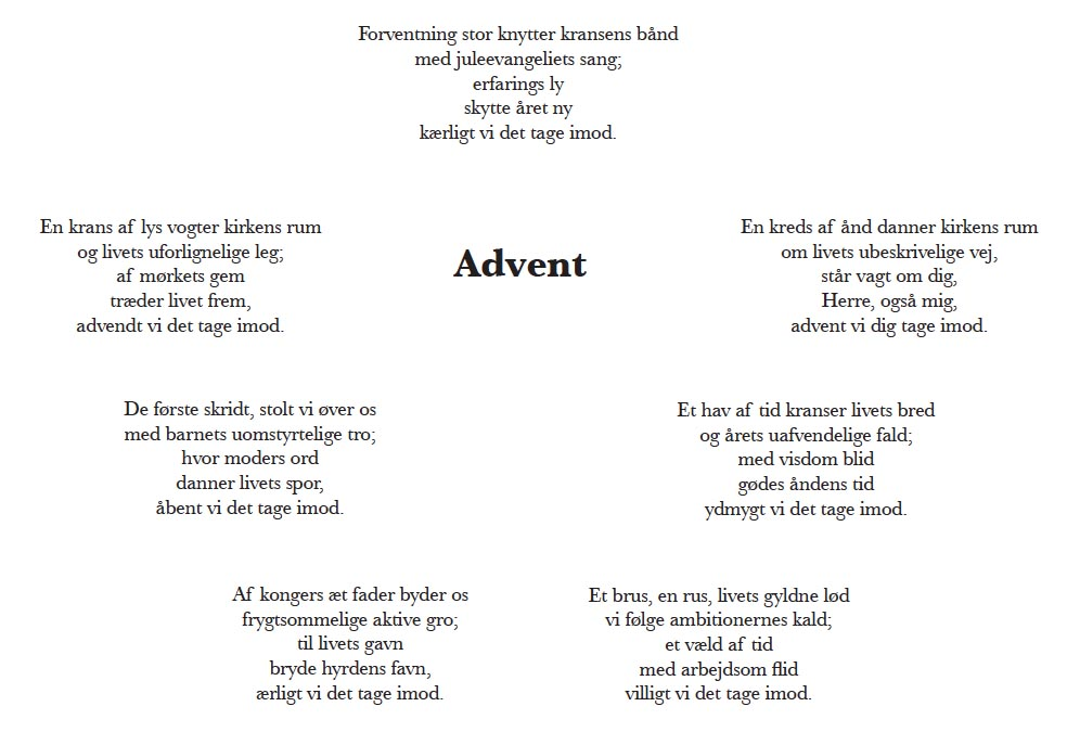 "Digtet ""Advent"""