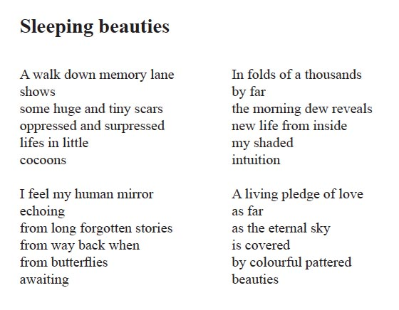 "Digtet ""Sleeping beauties"""